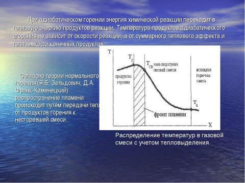 """Презентация на тему """"Теория нормального горения"""" по физике"""